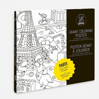 poster a colorier paris omy made in france