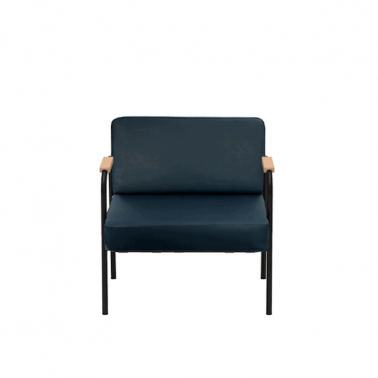 Fauteuil uni similicuir Made in France