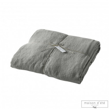Housse de couette lin stone Made in France