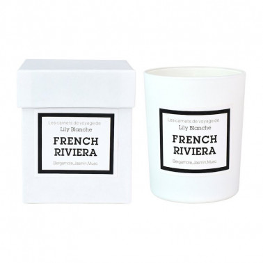 bougie french riviera lily blanche fabriquee en france