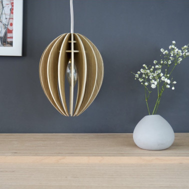 lampe suspension bois made in france