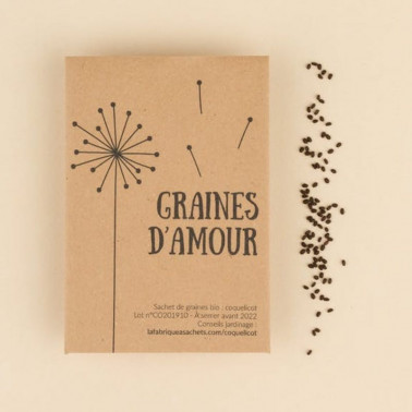 Carte graines d'amour bio Made in France