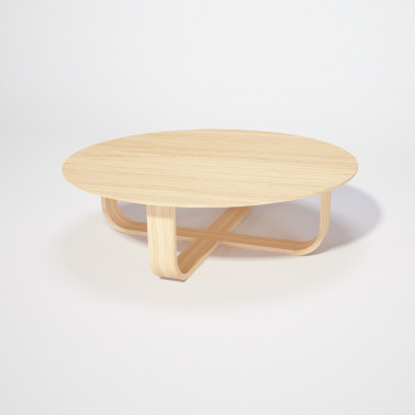 Table basse ronde chêne massif Made in France