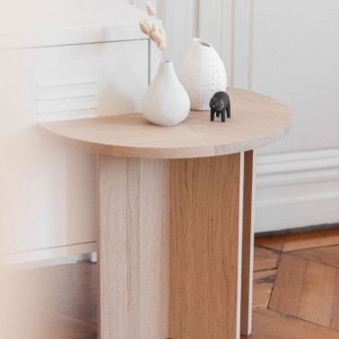 Table d'appoint en chêne made in france